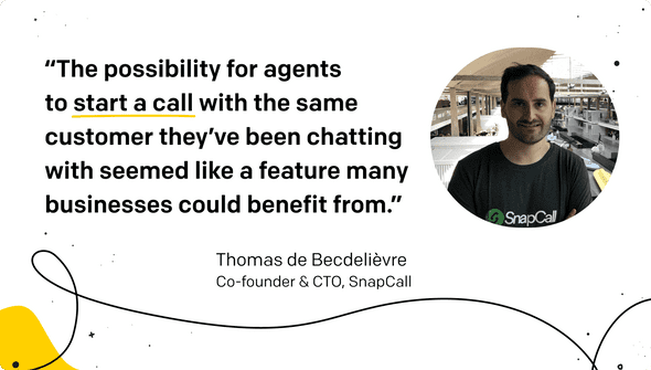 SnapCall CTO's quote for LiveChat
